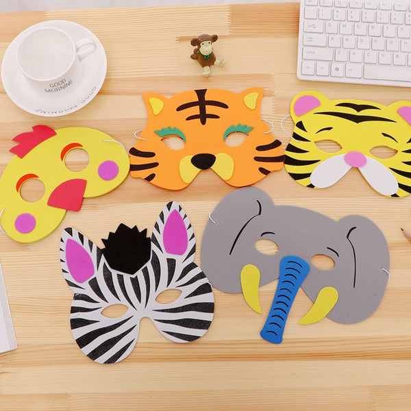 3pcs Random Mask Birthday Party Supplies EVA Foam Animal Zoo Jungle Masks Cartoon Hats Kids Party Dress Up Party Decoration - The most popular products on Tiktok | GOWOW