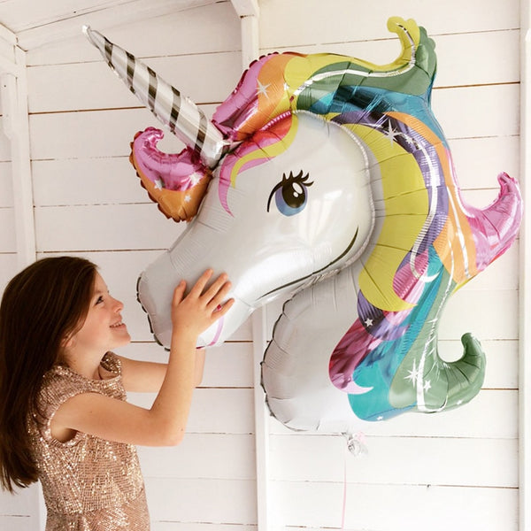45-110cm Giant Unicorn Balloon Party Supplies Birthday Party Decorations Rainbow  Balloons kids Foil Balloons cartoon hat - The most popular products on Tiktok | GOWOW