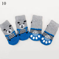 4Pcs Warm Puppy Dog Shoes Soft Pet Knits Socks Cute Cartoon Anti Slip Skid Socks For Small Dogs Breathable Pet Products S/M/L - The most popular products on Tiktok | GOWOW