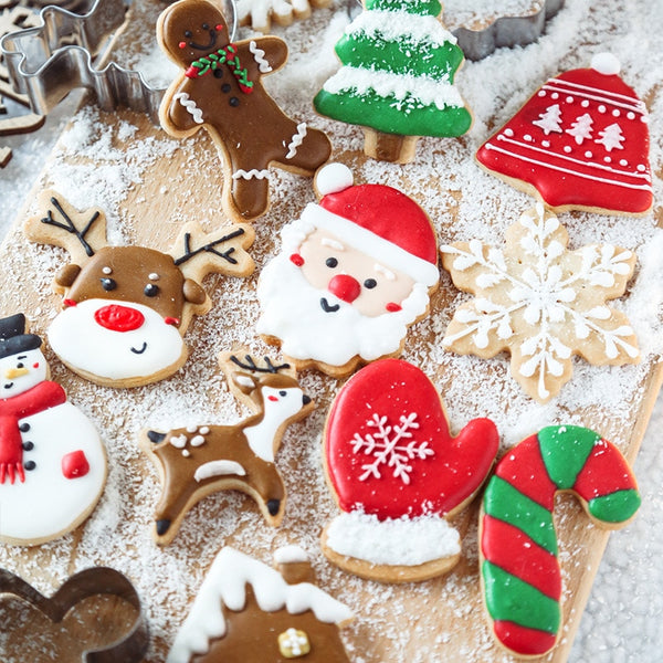4pc Christmas Shape Spring Mold Cookie Fondant Plastic Molds Embosser Cutter Mold Biscuit Craft Mould DIY Bakeware Tools - The most popular products on Tiktok | GOWOW