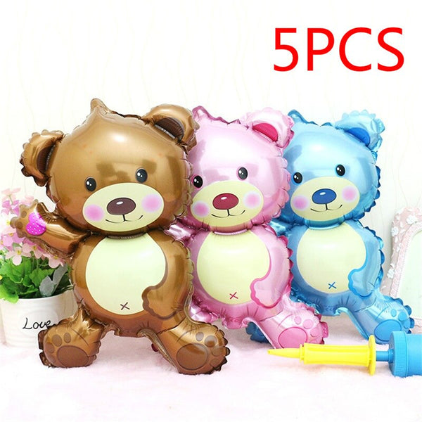5 Pcs 16inch Cartoon Cute Bear Mini Safety Child Toy Decoration Balloon Foil Balloon Birthday Party - The most popular products on Tiktok | GOWOW