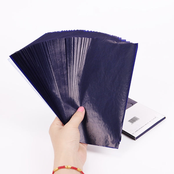 50PCS Blue Double Sided Carbon Paper 48K Thin Type Stationery Paper Finance Office Supplies - The most popular products on Tiktok | GOWOW