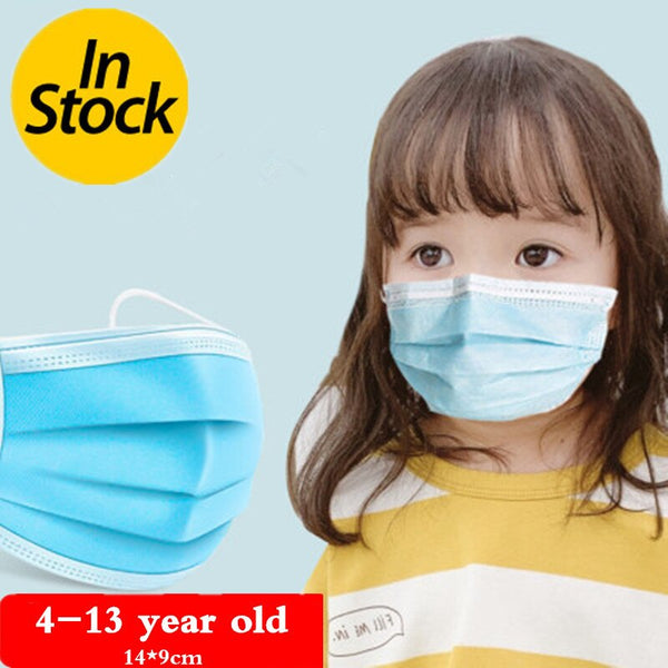 50PCS/lot 3 layer Disposable Elastic Child Mouth mask Soft Breathable Flu Hygiene Kids Face Mask Antivirus masks anti dust mask - The most popular products on Tiktok | GOWOW