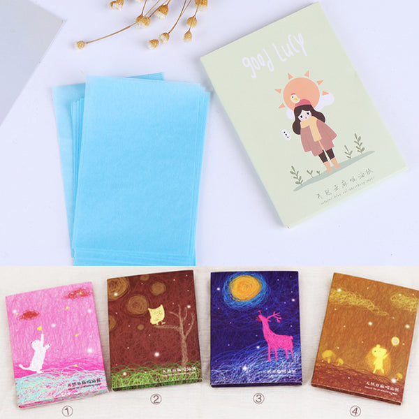 50pcs Tissue Papers Makeup Cleansing Oil Absorbing Face Paper Cute Cartoon Absorb Blotting Facial Cleanser Face Tools Girl Boy - The most popular products on Tiktok | GOWOW