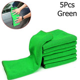 5Pcs Green Microfiber Towels Blue Absorbent Washing Cloth Car cleaning Microfiber Cleaning Towels #MY - The most popular products on Tiktok | GOWOW