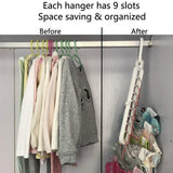 GOWOW TIKTOK 5 pcs Magic Hangers - Closet Space Saving Hangers - The most popular products on Tiktok | GOWOW