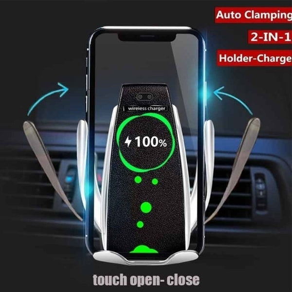 2019 New High Tech!Magical!Automatic Clamping Wireless Car Charger 360 Degree Rotation Charging Mount - The most popular products on Tiktok | GOWOW