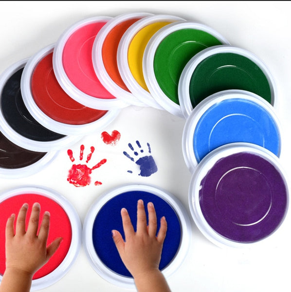 6 Colors DIY Finger Painting Drawing Toy Colored Craft Ink Pad Inkpad Colorful Stamps Toy Graffiti Paint Toys Non-toxic - The most popular products on Tiktok | GOWOW
