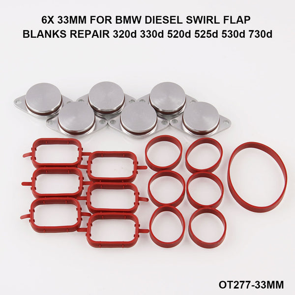 6 PCS 22/33mm OEM design by aluminum For BMW 320d Swirl Flap Blanking Plates seal with intake manifold gasket 6 cylinder OT277 - The most popular products on Tiktok | GOWOW