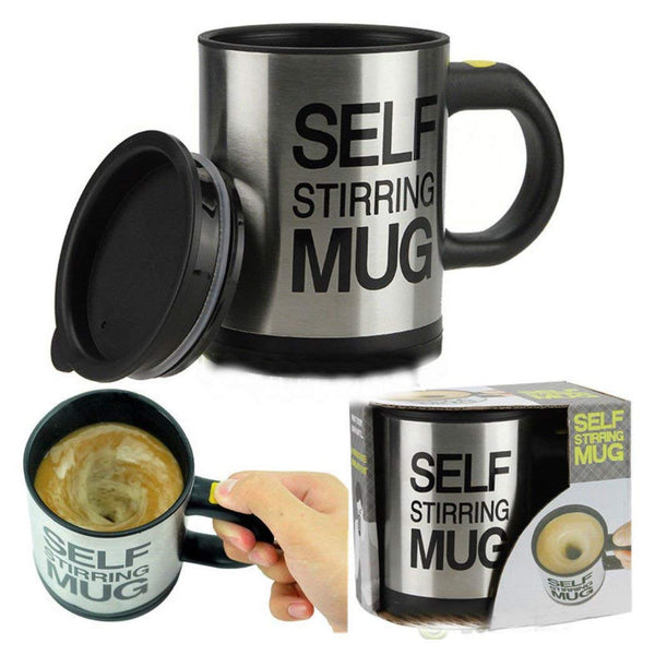 TIKTOK Hot Sale Auto Mixing Tea Cup Stainless Plain Lazy Self Stirring Mug Coffee Soup - The most popular products on Tiktok | GOWOW