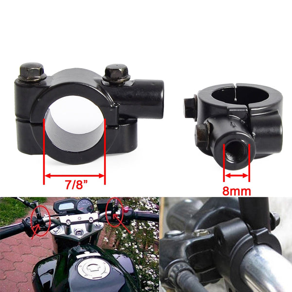 "7/8"" Motorcycle Handle Bar Mirror Mount Holder Rearview Handlebar Mirror Clamp For KTM Suzuki Honda For Kawasaki BMW Yamaha ATV - The most popular products on Tiktok 