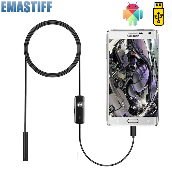 7mm Endoscope Camera Flexible IP67 Waterproof Micro USB Inspection Borescope Camera for Android PC Notebook 6LEDs Adjustable - The most popular products on Tiktok | GOWOW