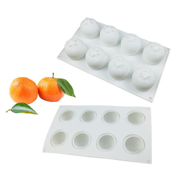 8 Holes Orange Dessert Silicone Cake Mold For Baking Fondant Mould Fruit Mousse Pan Bakeware Chocolates Moule Pastry Molds - The most popular products on Tiktok | GOWOW