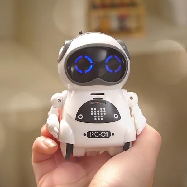 939A Pocket RC Robot Talking Interactive Dialogue Voice Recognition Record Singing Dancing Telling Story Mini RC Robot Toys Gift - The most popular products on Tiktok | GOWOW