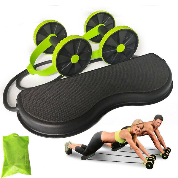 AB Wheels Roller Stretch Elastic Abdominal Resistance Pull Rope Tool AB roller for Abdominal muscle trainer exercise - The most popular products on Tiktok | GOWOW