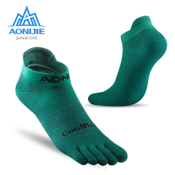 AONIJIE E4110 One Pair Lightweight Low Cut Athletic Toe Socks Quarter Socks For Five Toed Barefoot Running Shoes Marathon Race - The most popular products on Tiktok | GOWOW