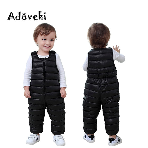 Adoveki 2019 THE NEW Winter Jumpsuit for Girls and Boys Warm Cotton Overall Baby Boy Clothes Soft Winter Toddler Coat 2-6 Years - The most popular products on Tiktok | GOWOW