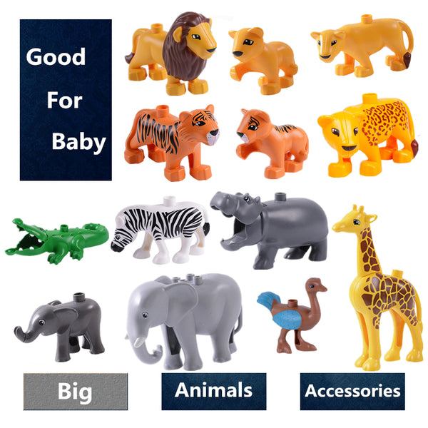 Animal Model Building Blocks accessory children DIY Toys Compatible with Duploe Animals set cow giraffe Block Bricks sets gifts - The most popular products on Tiktok | GOWOW
