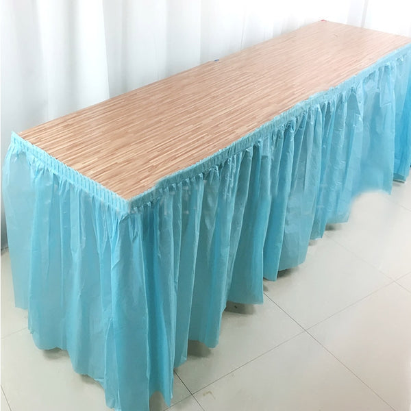 BALLE Disposable Table Skirt Plastic Party 13 colors  73x420cm Table Cover for Birthday Party Wedding Festival Decoration - The most popular products on Tiktok | GOWOW