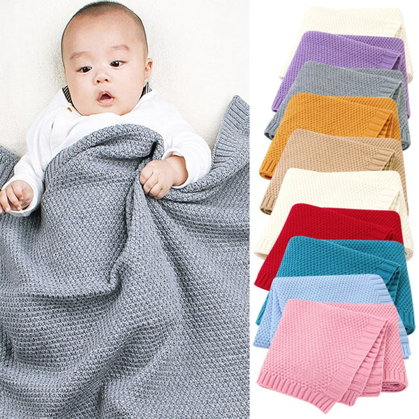 Baby Knitted Newborn Swaddle Wrap Stroller Blankets Soft Infant Bedding Quilt  Wrap Stroller Blankets Soft Infant Bedding Quilt - The most popular products on Tiktok | GOWOW