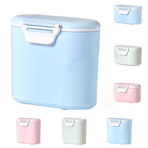 Baby Milk Powder Container with Spoon Portable Infant Formula Dispenser Food Storage Box with Scoop Airtight Baby Food Storage - The most popular products on Tiktok | GOWOW