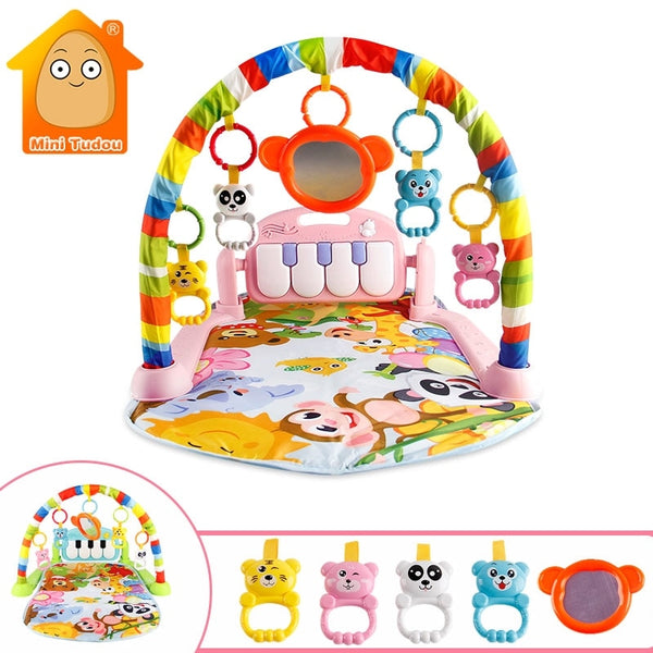 Baby Play Music Mat Carpet Toys Kid Crawling Play Mat Game Develop Mat with Piano Keyboard Infant Rug Early Education Rack Toy - The most popular products on Tiktok | GOWOW