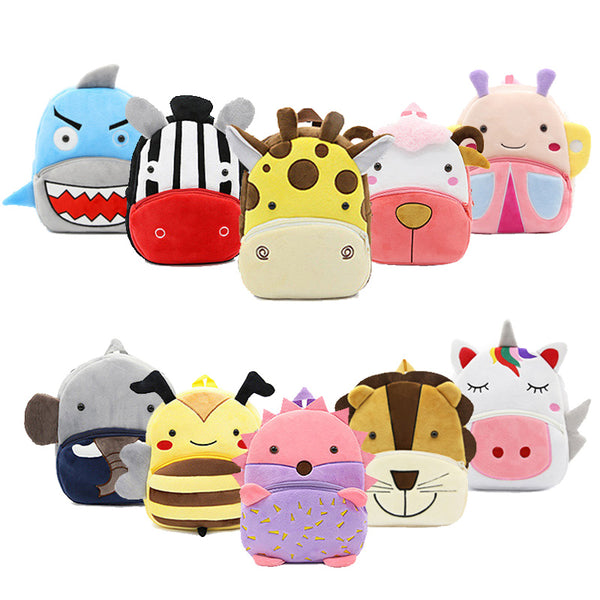 Baby Plush Backpack Animal School Bags Cartoon Cute Plushback Children Bag Kindergarten Schoolbag  Kids Backpack - The most popular products on Tiktok | GOWOW