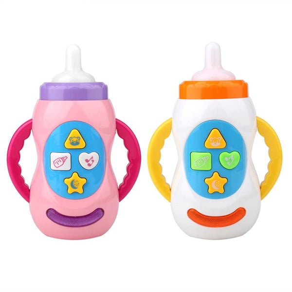 Baby Toys Kids Sound Milk Bottle Toys Safe Music Light Milk Bottle Musical Learning Educational Toys For Children Feeding Tool - The most popular products on Tiktok | GOWOW