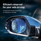 Baseus 2Pcs Car Rearview Mirror Rainproof Film 0.15mm Clear Rear View Mirror Anti Fog Protective Films Window Foils Car Sticker - The most popular products on Tiktok | GOWOW