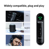 Baseus Car Aux Bluetooth 5.0 Adapter Wireless 3.5mm Audio Receiver for Auto Bluetooth Handsfree Car Kit Speaker Headphone - The most popular products on Tiktok | GOWOW