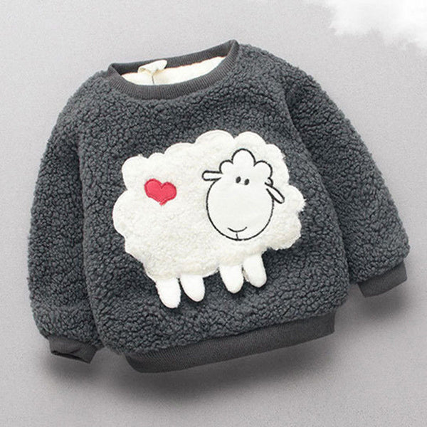 BibiCola Baby girls sweater winter infant warm pullover outerwear for girls toddler autumn velvet coats newnorn baby clothes - The most popular products on Tiktok | GOWOW