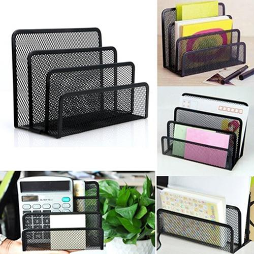 Black Mesh Letter Sorter Mail Business Document Tray Desk Office File Organiser Holder - The most popular products on Tiktok | GOWOW