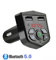 Bluetooth 5.0 Handsfree Car Kit FM Transmitter 3.1A Quick Dual USB Charger LCD Digital Voltmeter TF Card U disk AUX Player - The most popular products on Tiktok | GOWOW