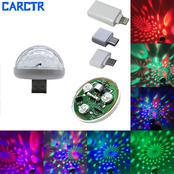 CARCTR New LED USB Car Atmosphere Light DJ RGB Mini Colorful Music Sound Control Lamp Interior Car Decorative Lamp Ambient Light - The most popular products on Tiktok | GOWOW