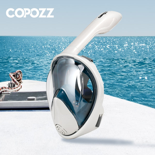 COPOZZ Full Face Scuba Diving Mask Anti Fog Goggles with Camera Mount Underwater Wide View Snorkel Swimming mask for Adult Youth - The most popular products on Tiktok | GOWOW