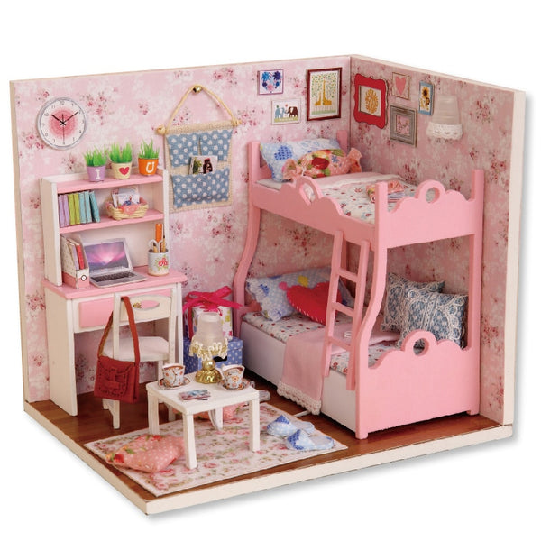 CUTEBEE Doll House DIY Miniature Dollhouse Model Wooden Toy Furnitures Casa De Boneca Dolls Houses Toys Birthday Gift H012 - The most popular products on Tiktok | GOWOW