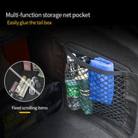 Car Accessories Organizer Car Trunk Net Nylon SUV Auto Cargo Storage Mesh Holder Universal For Cars Luggage Nets Travel Pocket - The most popular products on Tiktok | GOWOW