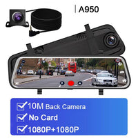 "Car DVR 10"" Stream RearView Mirror Touch screen Super night vision 1080P Dash Cam Camera Video Recorder Auto Registrar Dashcam - The most popular products on Tiktok 