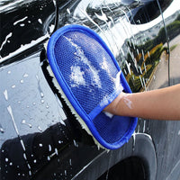 Car Styling 15*24cm Automotive Car Cleaning Car Brush Cleaner Wool Soft Car Washing Gloves Cleaning Brush Motorcycle Washer Care - The most popular products on Tiktok | GOWOW