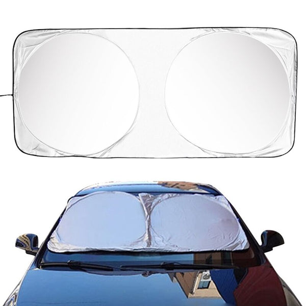 Car-Styling Folding Jumbo Front Rear Car Window Sun Shade Auto Visor Windshield Block Cover Sunshade - The most popular products on Tiktok | GOWOW