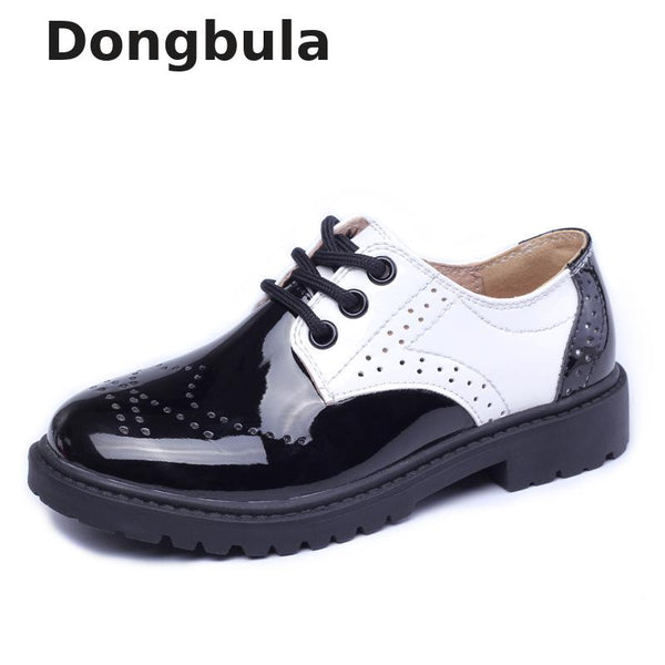 Children Genuine Leather Wedding Dress Shoes For Girls Boys Kids Black School Performance Formal Flat Loafer Moccasins Shoes New - The most popular products on Tiktok | GOWOW