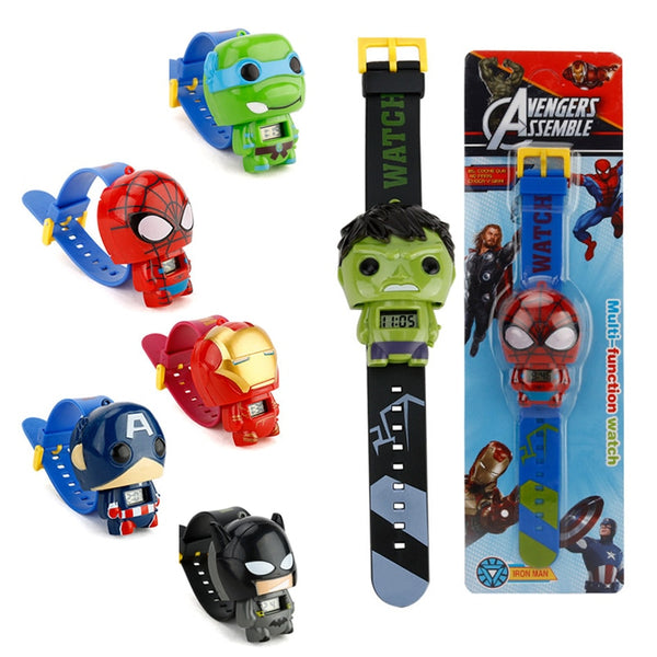 Children Toys Watches For Boys Girls Avengers Super Hero Iron man Spiderman Captain America Batman Hulk Figure Toys Gifts - The most popular products on Tiktok | GOWOW