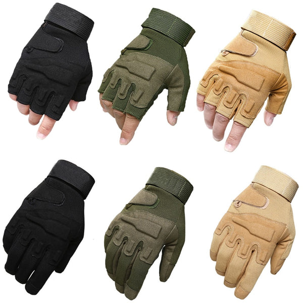 Combat Tactical Half/Full Finger Gloves Military Army Fingerless Mittens Airsoft Bicycle Outdoor Sports Shooting Hunting Gloves - The most popular products on Tiktok | GOWOW