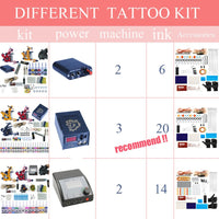 Complete Tattoo Kit 2 Tattoo Machines Gun Black Ink Set Power Supply Grips Body Art Tools Set Tattoo Permanent Makeup Tattoo set - The most popular products on Tiktok | GOWOW