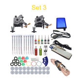 Complete Tattoo Machine Kit Set 2 Coils Guns 5 Colors Black Pigment Sets Power Tattoo Beginner Grips Kits Permanent Makeup - The most popular products on Tiktok | GOWOW