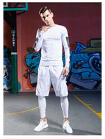 Compression Sports Leggings Tights Men Elastic Gym Fitness Pants Man Running 3/4 Pants - The most popular products on Tiktok | GOWOW