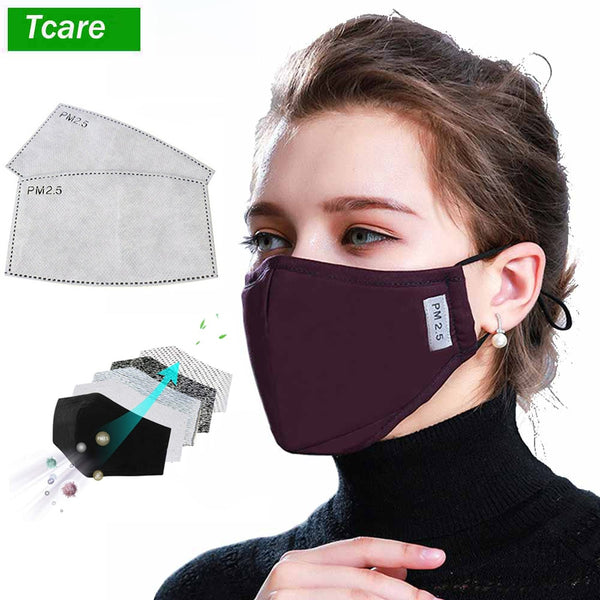 * Cotton PM2.5 Black mouth Mask anti dust mask Activated carbon filter Windproof Mouth-muffle bacteria proof Flu Face masks Care - The most popular products on Tiktok | GOWOW