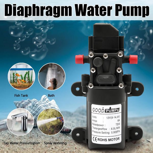 DC 12V 130PSI 6L/Min Water High Pressure Diaphragm Water Pump Self Priming Pump Automatic Switch - The most popular products on Tiktok | GOWOW