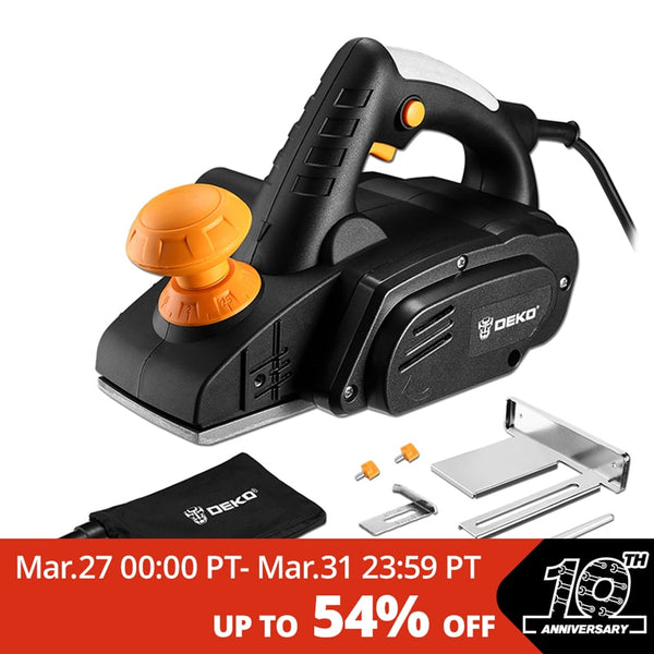 DEKO 220V 900W Electric Planer Plane Variable Speed Hand Held Power Tool Wood Cutting With Accessories - The most popular products on Tiktok | GOWOW