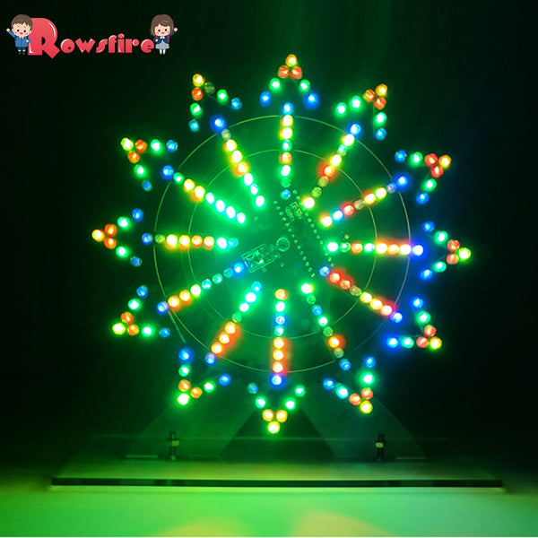 DIY Colorful LED Automatic Rotating Ferris Wheel Kit Electronic Components DIY Ferris Wheel Infrared Remote Ferris Wheel Decor - The most popular products on Tiktok | GOWOW